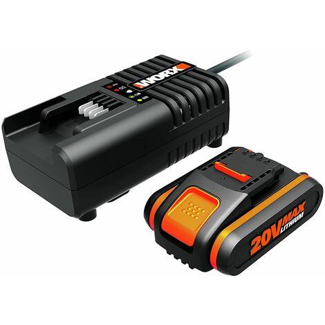 Worx WA3601 Batería + Cargador 40 W, 20 V