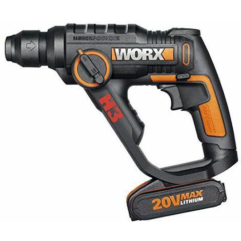 Worx WX390 - H3TMTaladro/Atornilllador/Martillo 1 Bat. 20v-2,0Ah Li-Ion