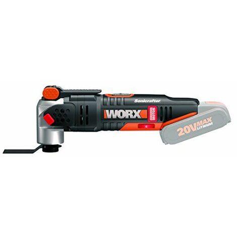 Worx wx693.9Sonicrafter Multi-outils, 20V, Set de 39pièces