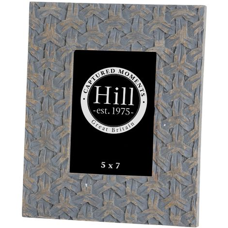 Woven Painted Photo Frame (One Size) (Grey)