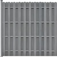 WPC Fence Panel with 1 Post 180x180 cm Square Grey