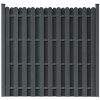 WPC Fence Panel with 2 Posts 180x180 cm Square Grey