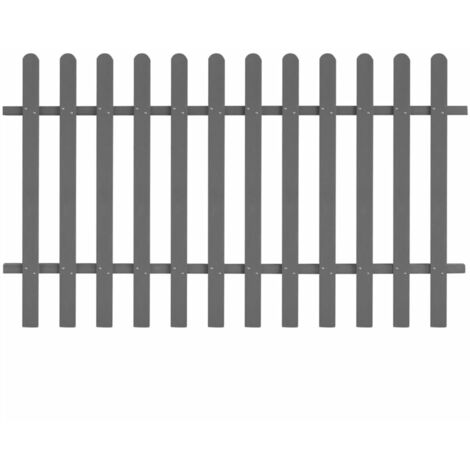 WPC Picket Fence 200x120 cm Grey