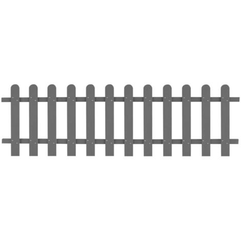 WPC Picket Fence 200x60 cm Grey