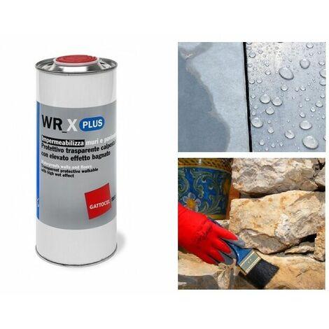 Wr-x plus 0,75lt impermeabilizzante muri e pavimenti effetto bagnato semi lucido