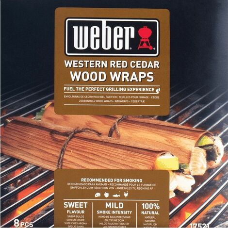 Wraps cèdre de bois rouge Weber