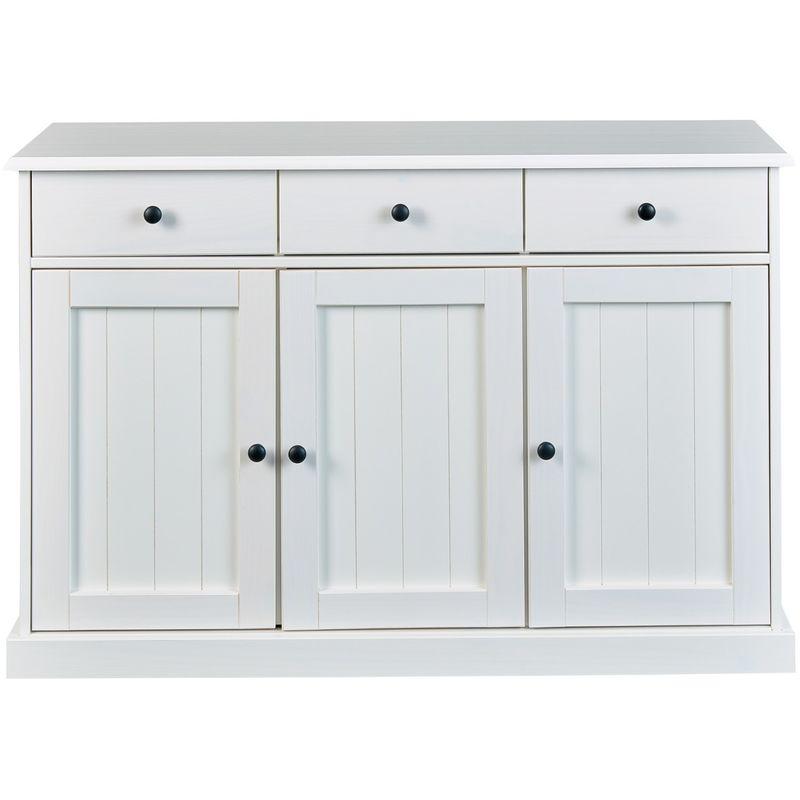 Wright Sideboard 3 Türen, 3 Schubladen, weiss . 19-20904020 - PKLINE