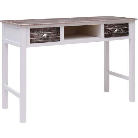 Writing Desk Brown 110x45x76 cm Wood