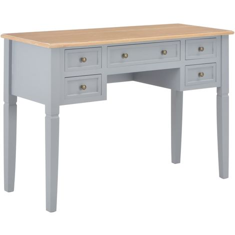 Writing Desk Grey 109.5x45x77.5 cm Wood