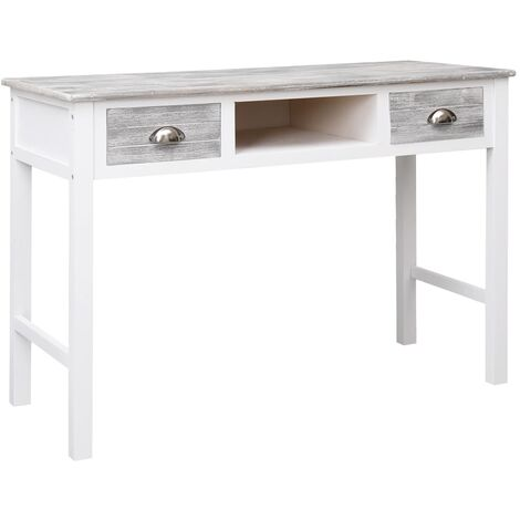Writing Desk Grey 110x45x76 cm Wood
