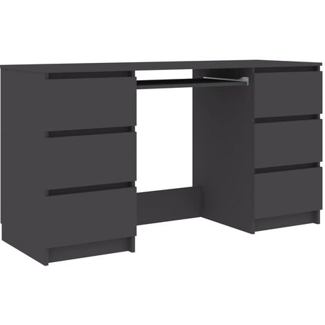 Writing Desk Grey 140x50x77 cm Chipboard