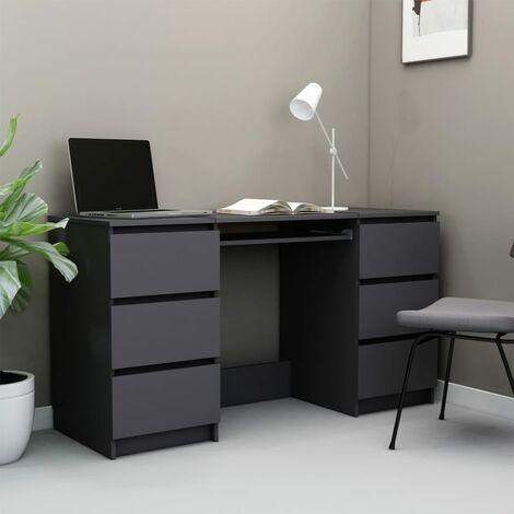 Writing Desk Grey 140x50x77 cm Chipboard - Grey