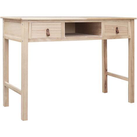 Writing Desk Natural 110x45x76 cm Wood