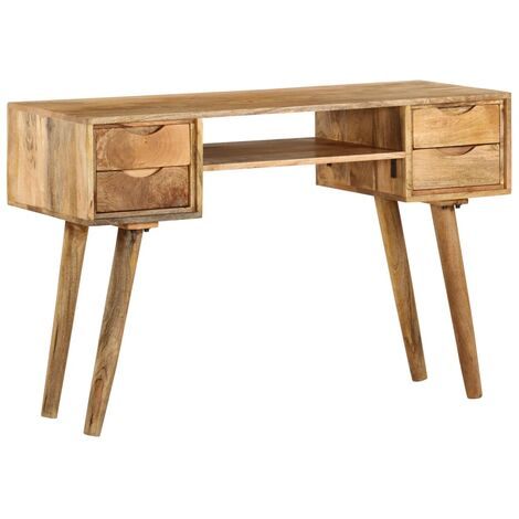 Writing Desk Solid Mango Wood 115x47x76 cm