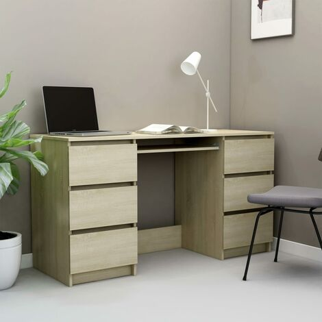Writing Desk Sonoma Oak 140x50x77 cm Chipboard