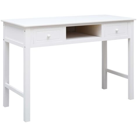 Writing Desk White 110x45x76 cm Wood