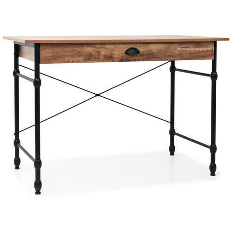 Writing Desk with Drawer 110x55x75 cm Oak Colour