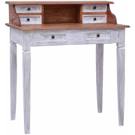 Writing Desk with Drawers 90x50x101 cm Solid Reclaimed Wood