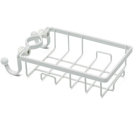 Wrought Iron Kitchen Faucet Creative Sink Bathroom Bathroom Drain Storage Storage Rack-White Kitchen