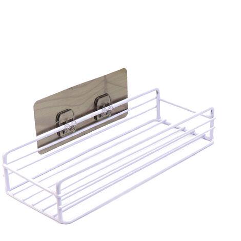 Wrought Iron Kitchen Storage Storage Storage Storage Storage Holder Storage Holder Powerful and Seamless Square Storage Holder (White