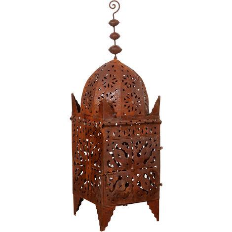 Wrought iron lantern with perforation