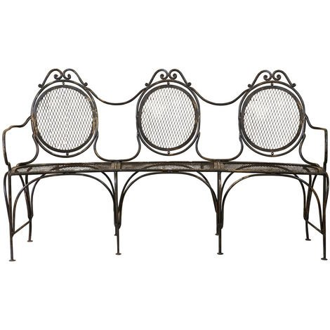 Wrought iron made W176xDP58xH102 cm sized bench