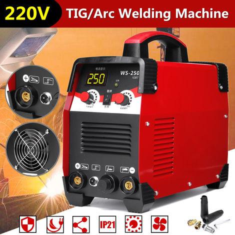 WS-250 2 EN 1 TIG/Arc Poste à Souder 220V 7700W IGBT Inverter soudage£¨Accessoires de soudage NON INCLUS£©