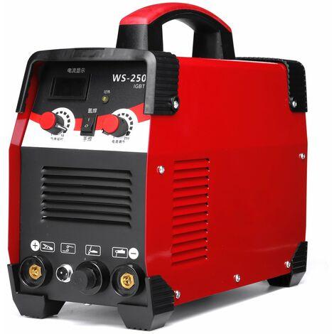 WS-250 2 IN 1 WIG / Lichtbogenschweißgerät 220V 7700W IGBT Inverterschweißen Schweißen