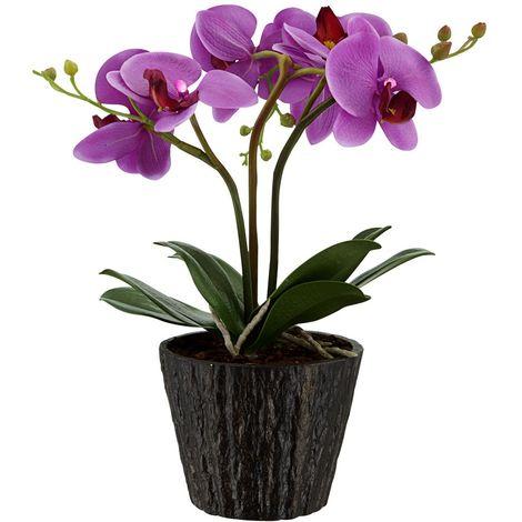 Wunderschöne Orchidee im Blumentopf mit LED Leuchtmittel
