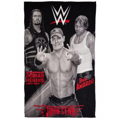 WWE Childrens/Kids Fleece Blanket (One Size) (Black)