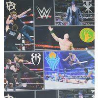 WWE Wallpaper Wrestling Superstars USA Raw Smackdown Kids Multi Coloured