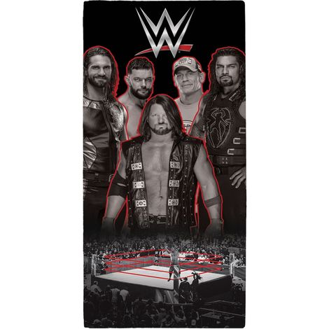 WWE Wrestling Ring Towel (One Size) (Black)