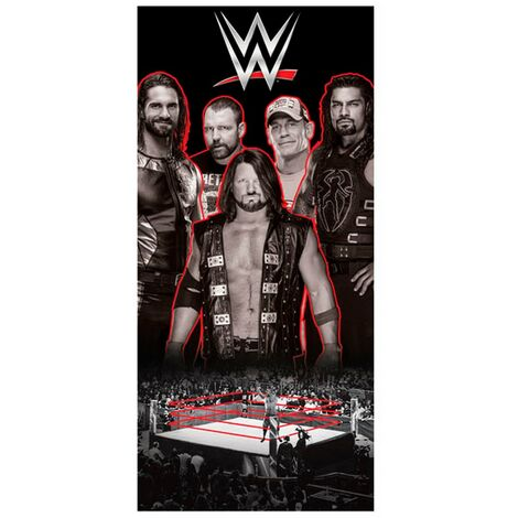 WWE Wrestling Ring Towel (One Size) (Black/White/Red)