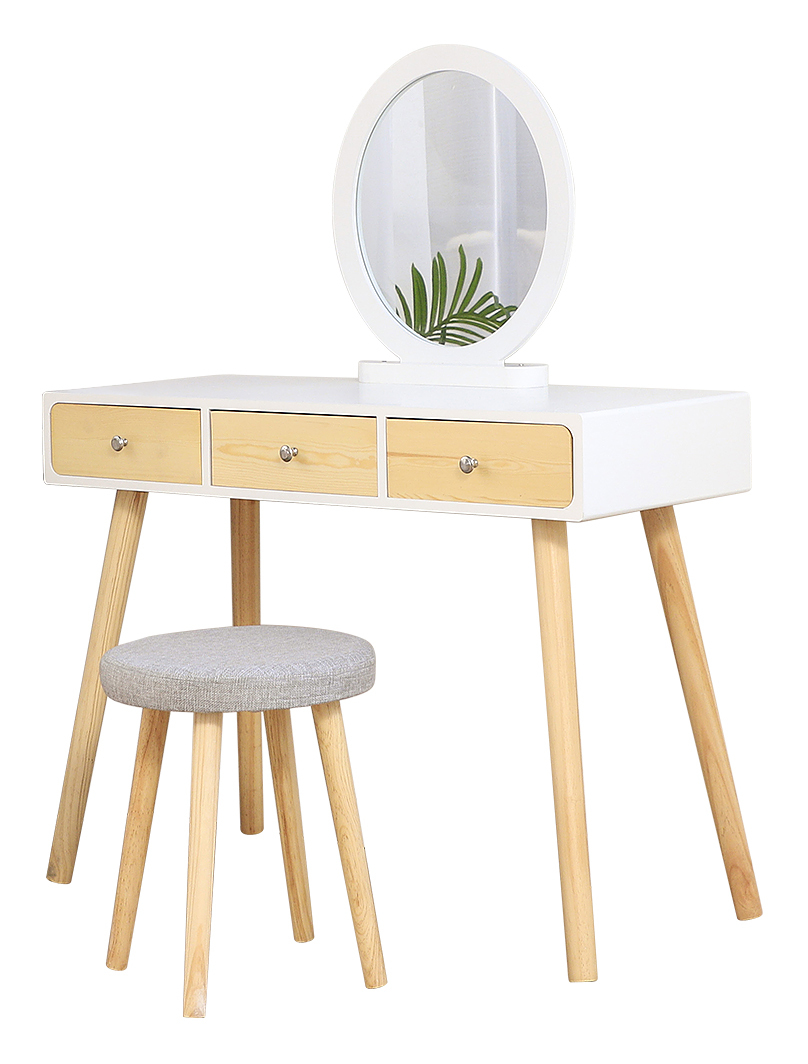 WYCTIN® Coiffeuse Design Scandinave Blanc Grand Surface