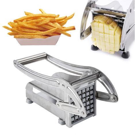 WYCTIN Edelstahl Pommesschneider Kartoffelschneidermaschine Pommes Frites Schneider