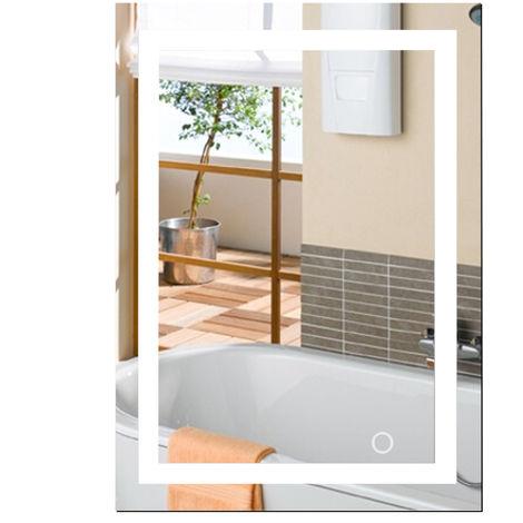 WYCTIN® Espejo de baño LED, blanco frío, 60 * 80 cm