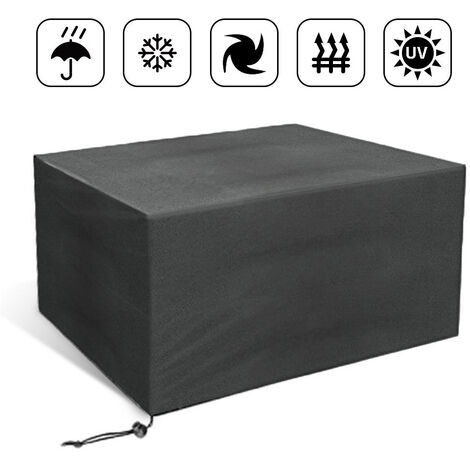WYCTIN® Funda protectora para mesa de jardín 110x110x65cm - Antracita