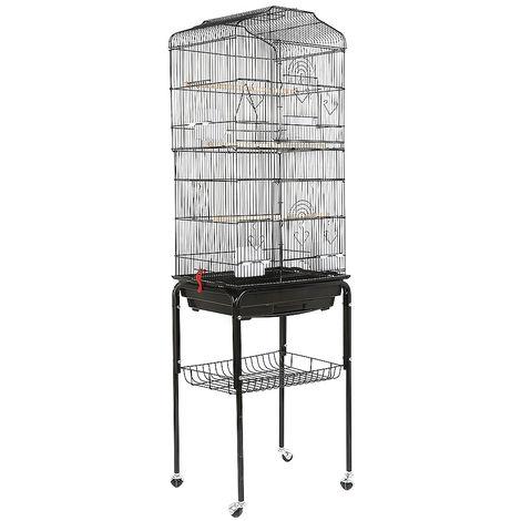 WYCTIN® Jaula de alambre para pájaros con 4 ruedas, 46 * 35,3 * 150,6 cm