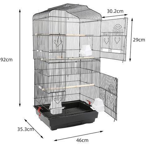 WYCTIN® Jaula de alambre para pájaros, portátil, 46 * 36 * 93cm