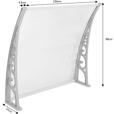 WYCTIN® Marquesina de puerta 100*150 cm(transparente)