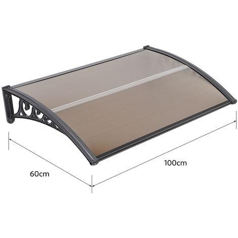 WYCTIN® Marquesina de puerta 60*100 cm(marrón)