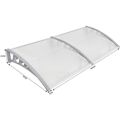WYCTIN® Marquesina de puerta 80*240 cm(transparente)