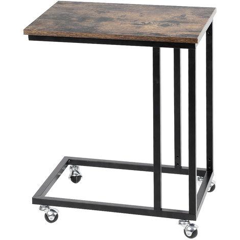 WYCTIN® Mesa de centro móvil retro / mesa de ordenador / mesa auxiliar 50 x 35 x 60 cm