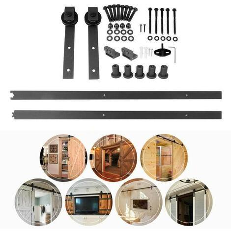 wyctin 200cm quincailleri kit de rail pour porte. Black Bedroom Furniture Sets. Home Design Ideas