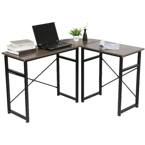 WYCTIN®Bureaud'anglepourordinateur&meubleinformatique&tabledetravailenChêne