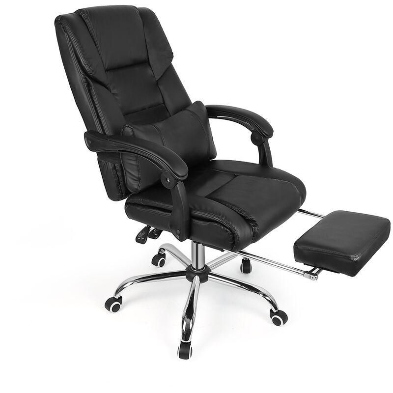 WYCTIN®confortable Siège de Bureau Moderne Fauteuil de bureau de repos Anti fatigue avec repose pied