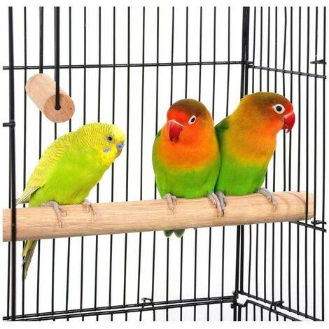 WYCTIN®jaula,Jaula de alambre para pájaros,Jaula pájaros Pajarera,Montaje de marco con 4 ruedas,46 x 35.3 x 150.6cm (No incluye juguetes)