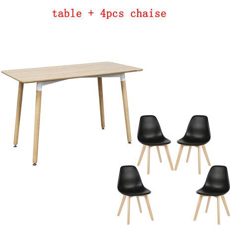 WYCTIN®juego 1 mesa + silla de comedor 4PCS