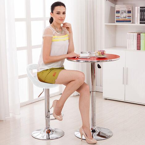WYCTIN®Lot de 2 tabourets de bar ABS Blanc Pivotant et réglable en Hauteur 59 cm - 80 cm , Chaise de Bar