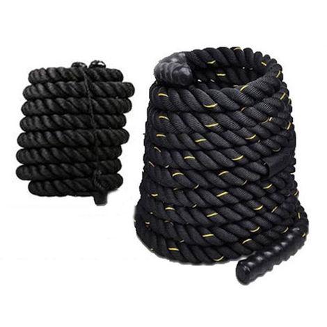 WYCTIN®Magnifique Battle Rope - 12M Corde Ondulatoire Sport Exercice Fitness (38MM)